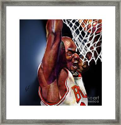 Eclipsing The Moon - Jordan  Framed Print by Reggie Duffie