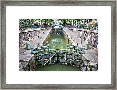 Ecluse Du Temple Framed Print
