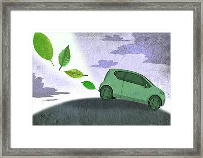 Eco Car Framed Print by Steve Dininno