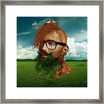 Eco Hipster Framed Print