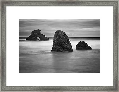 Ecola Rocks Framed Print by Brian Bonham