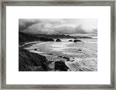 Framed Print featuring the photograph Ecola State Park by Photography  By Sai