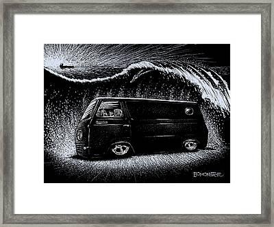 Econoline Wave II Framed Print by Bomonster