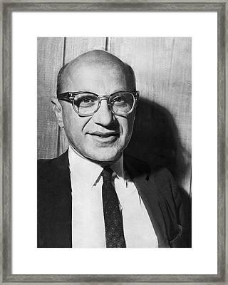 Economist Milton Friedman Framed Print