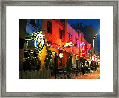 Economy Shoe Shop Halifax Framed Print by John Malone