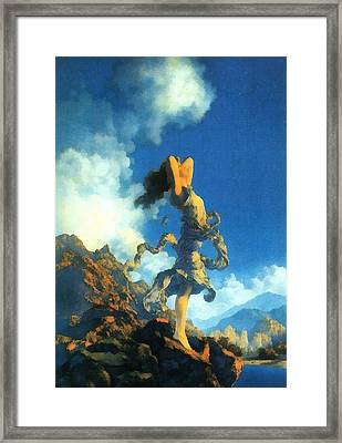 Ecstasy Framed Print by Maxfield Parrish