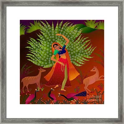 Ecstasy-ragamala Framed Print by Latha Gokuldas Panicker