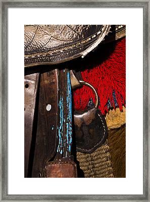 Ecuador Saddle Framed Print by Chad Simcox
