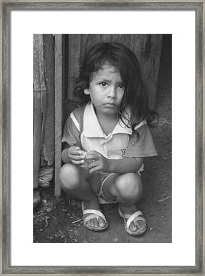 Framed Print featuring the photograph Ecuadorian Girl by Paul Miller