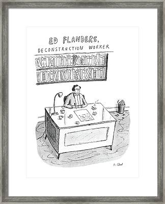 Ed Flanders Framed Print by Roz Chast