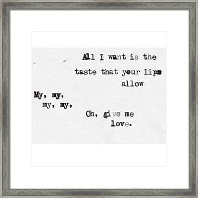 Ed Sheeran🐾 #love #this #song Framed Print