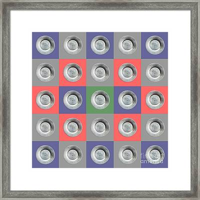 Edamame 5x5 Collage 5 Framed Print by Maria Bobrova
