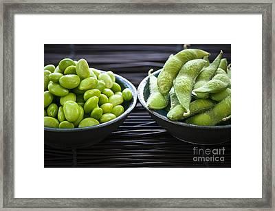 Edamame Framed Print by Elena Elisseeva