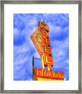 Eddie Bohn's Pig 'n' Whistle Motel Sign Framed Print by Juli Scalzi