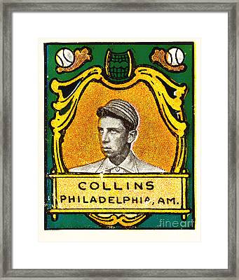 Eddie Collins Philadelphia Athletics Baseball Card 1025 Framed Print by Wingsdomain Art and Photography