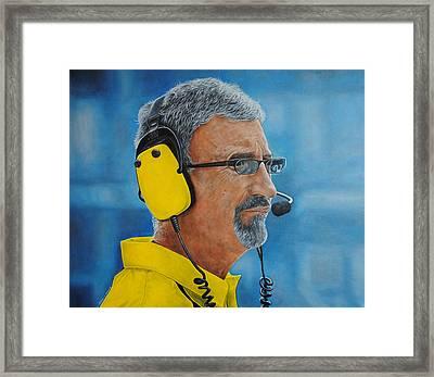 Eddie Jordan Framed Print by David Dunne