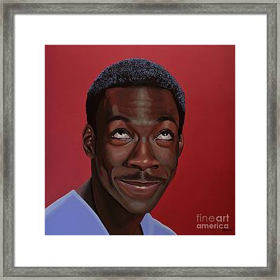Eddie Murphy Painting Framed Print by Paul Meijering