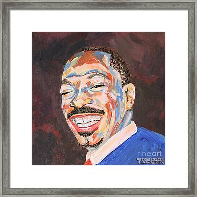 Eddie Murphy Portrait Framed Print by Robert Yaeger