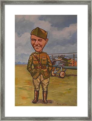 Framed Print featuring the painting Eddie Rickenbacker by Murray McLeod