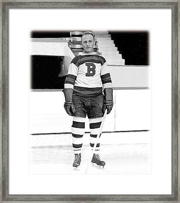 Eddie Shore Hockey Legend Framed Print by Gianfranco Weiss