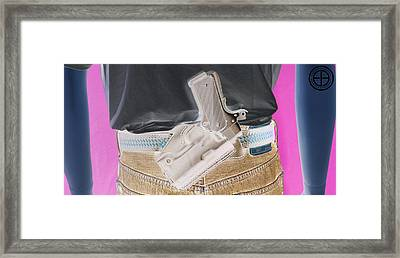 Eddie Sob Framed Print by Jorge Estrada