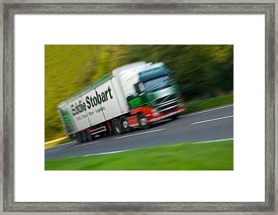 Eddie Stobart Lorry Framed Print by Amanda Elwell