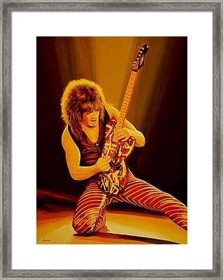 Eddie Van Halen Painting Framed Print by Paul Meijering