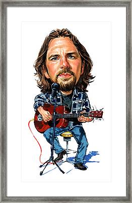 Eddie Vedder Framed Print by Art