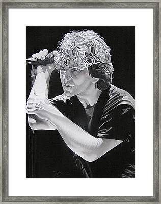 Eddie Vedder Black And White Framed Print