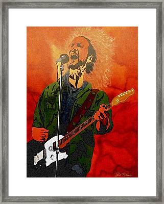 Eddie Vedder-eddie Live Framed Print by Bill Manson