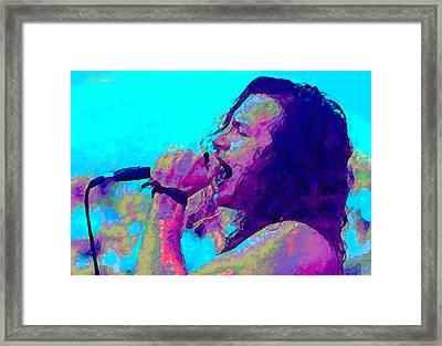 Eddie Vedder Framed Print by John Travisano