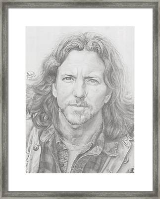 Eddie Vedder Framed Print