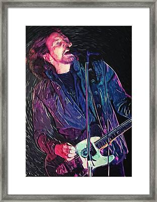 Eddie Vedder Framed Print by Taylan Apukovska