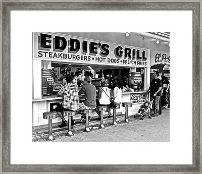 Eddie's Grill Framed Print by Frozen in Time Fine Art Photography