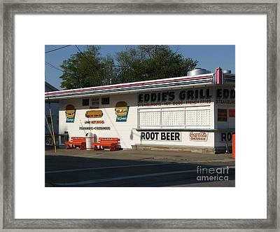 Eddie's Grill Framed Print by Michael Krek
