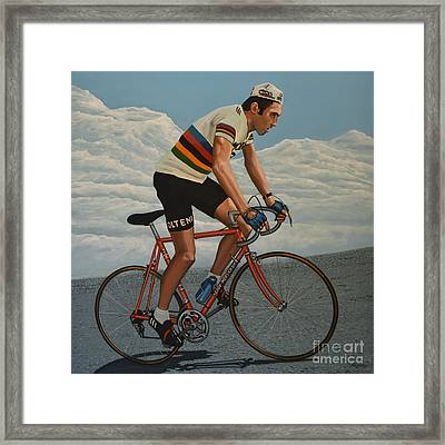 Eddy Merckx Framed Print by Paul Meijering