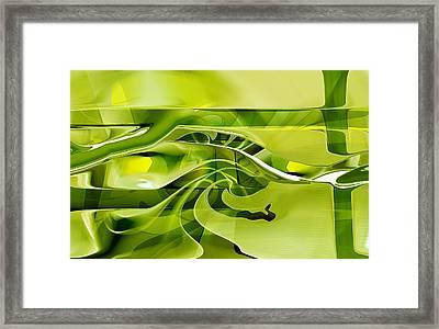 Framed Print featuring the digital art Eden 1 - The Serpent by rd Erickson