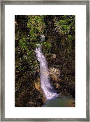 Eden Falls Lost Valley Buffalo National River Framed Print