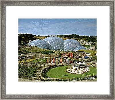 Eden Project 2002 Framed Print by David Davies