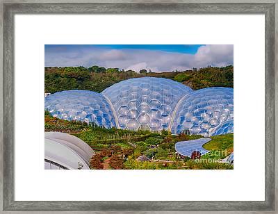 Eden Project Biomes Framed Print