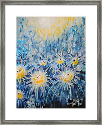 Framed Print featuring the painting Edentian Garden by Holly Carmichael