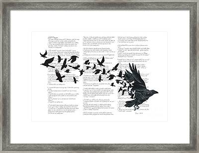 Edgar Alan Crow Framed Print