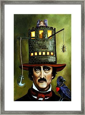 Edgar Allan Poe Edit 2 Framed Print by Leah Saulnier The Painting Maniac