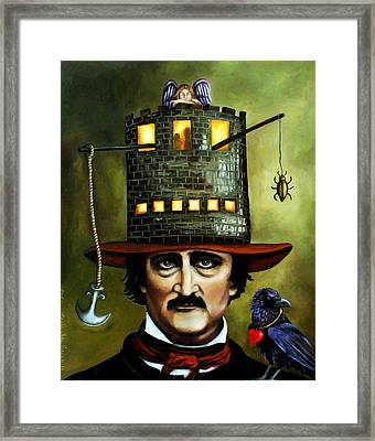 Edgar Allan Poe Edit 3 Framed Print by Leah Saulnier The Painting Maniac