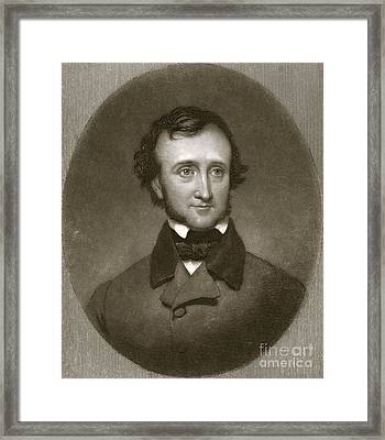 Edgar Allan Poe, Us Author And Poet Framed Print
