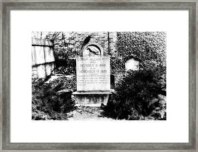 Edgar Allen Poe Grave Site Baltimore Framed Print by Bill Cannon