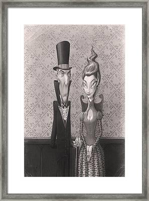 Edgar And Larissa Framed Print