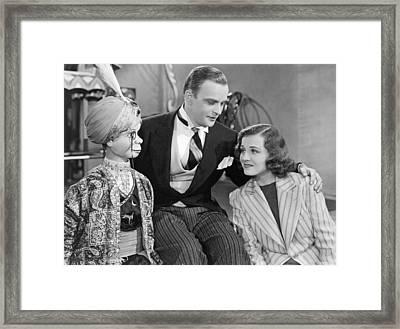 Edgar Bergen And Charlie Mccarthy Framed Print
