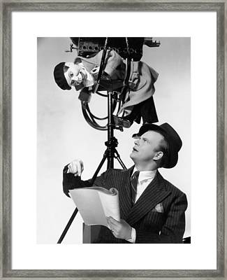 Edgar Bergen/charlie Mccarthy Framed Print by Underwood Archives