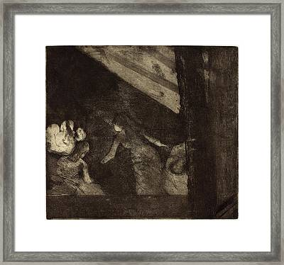 Edgar Degas French, 1834 - 1917, At The Cafe Des Framed Print by Quint Lox